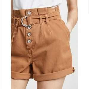Free People utility paper bag Cindy shorts